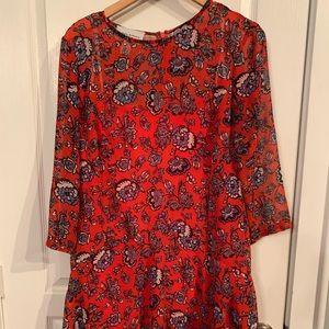 Donna Morgan sz 10 floral knee-length shift dress